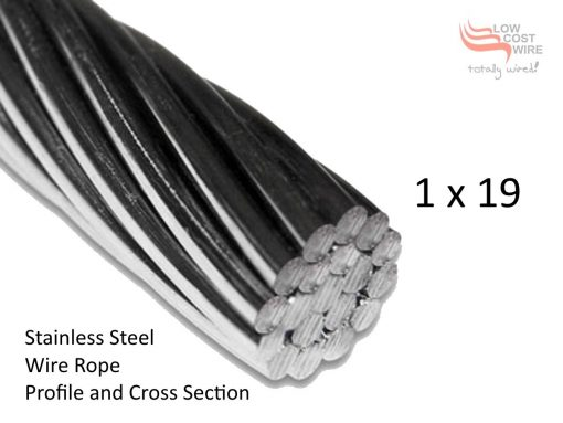 1x19 Stainless Steel Wire Rope Cross Section