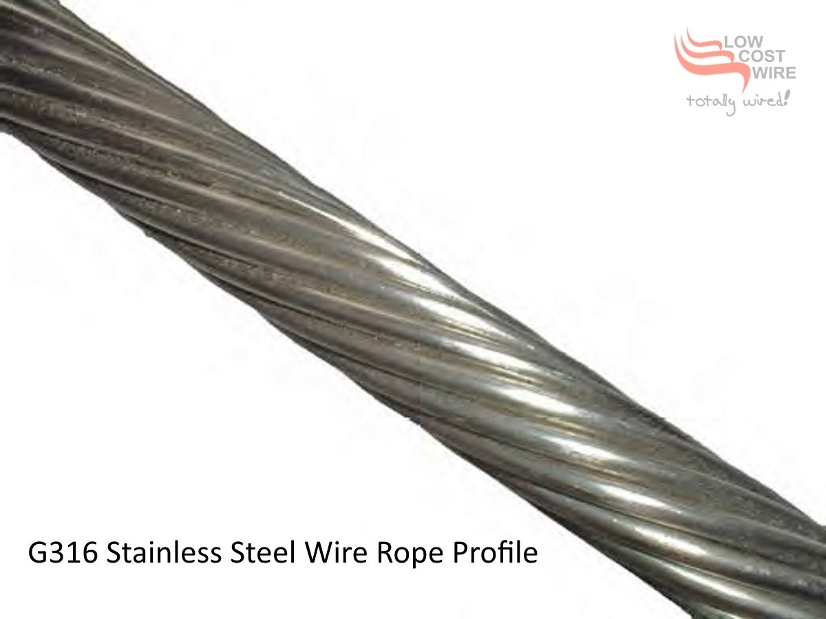3.0mm Stainless Steel Wire Rope for Wire Balustrade Construction