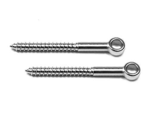 2 pack of Long Lag Screw Eyes
