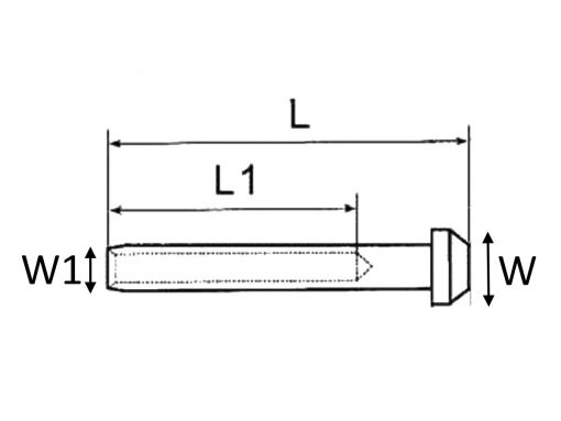 Swage Rod Terminal or End Stopper Dimension Diagram 2