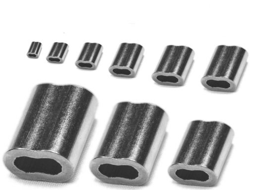 Nickel coated copper swage Sizes