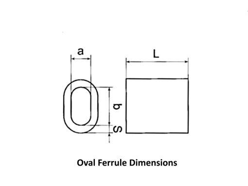 NIckel Coated Copper Swage Dimensional Diagram