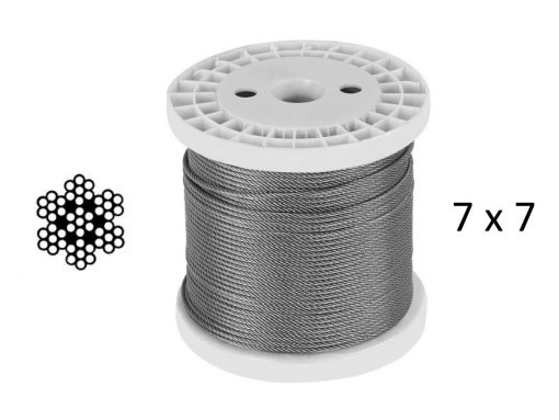 7X7 G316 Stainless Steel Wire Plastic Reel structure