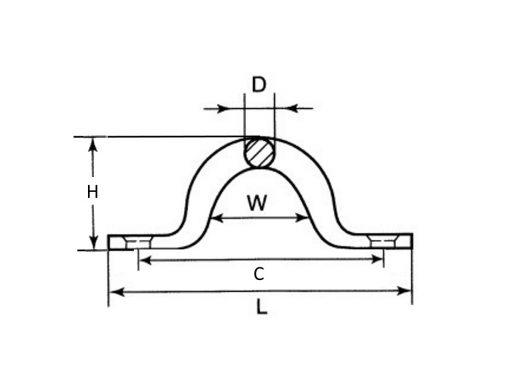 Saddle Eye Strap Dimension Diagram