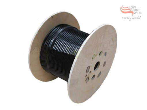 Reel of Black Nylon Coated Galvanised Wire Rope