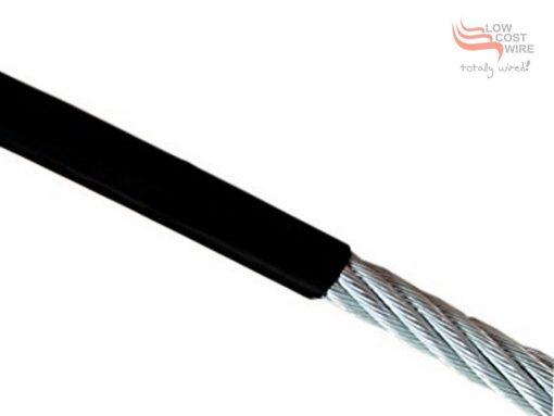 Black Nylon Coated Steel Wire Profile