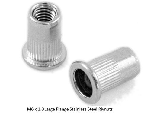 Large Flange Stainless Steel Nutserts LHT RHT