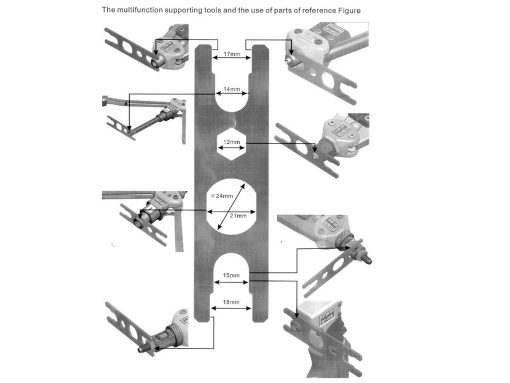 Rivet Nut Installation Tool Multi Wrench Reference Diagram_LR