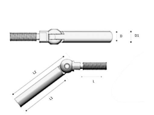 Swivel Bolt Dimension Diagram