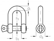 Dee Shackle Dimension Diagram