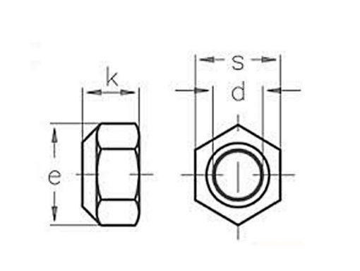 Nyloc Nut Dimensional Diagram