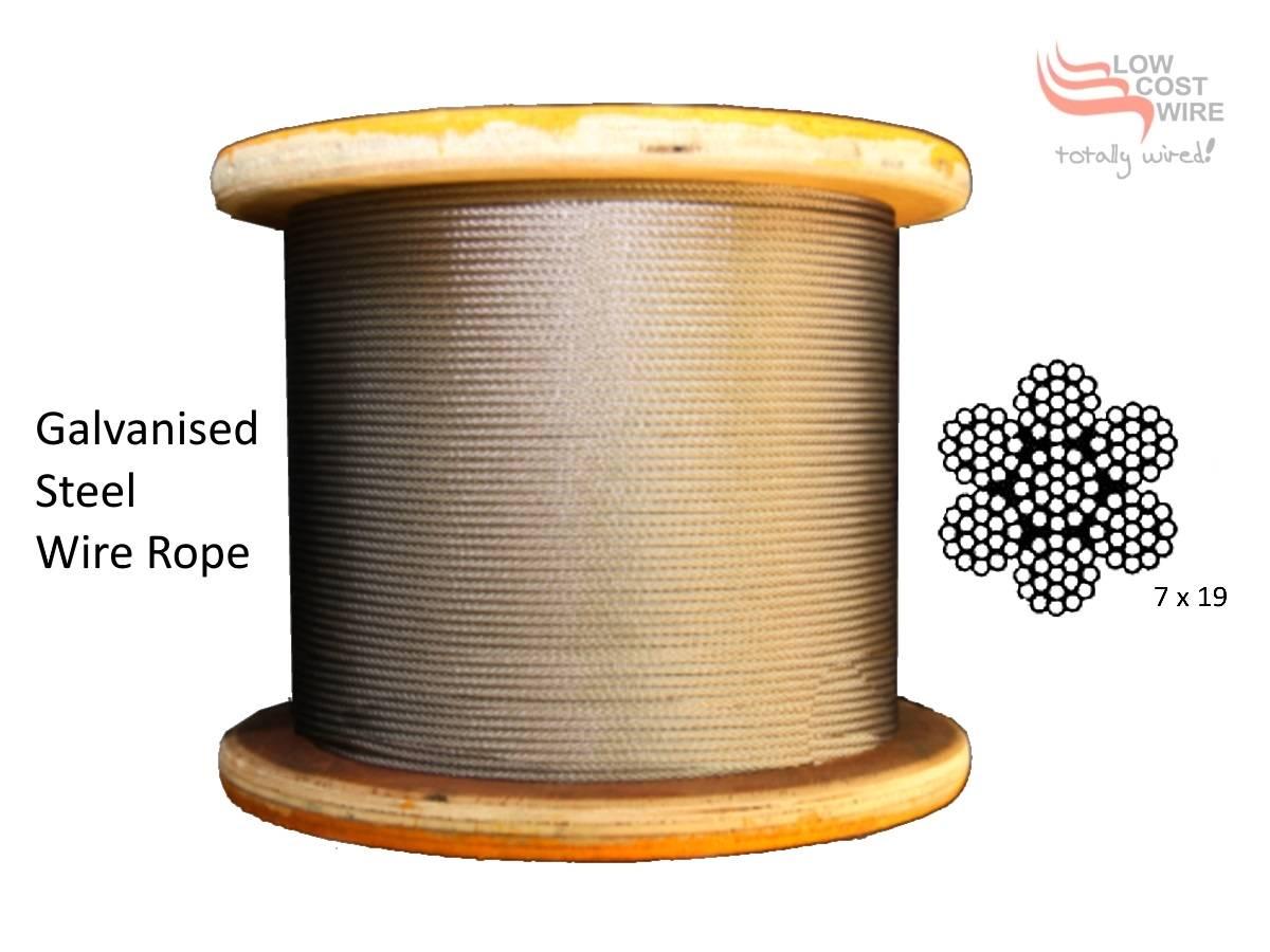 3.2mm Galvanised Steel Wire Rope