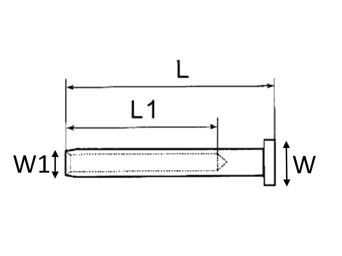 Wire Rope Clip Grade 316 Stainless Steel Diagram