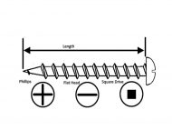 Pan Head Self Tapping Screws Diagram