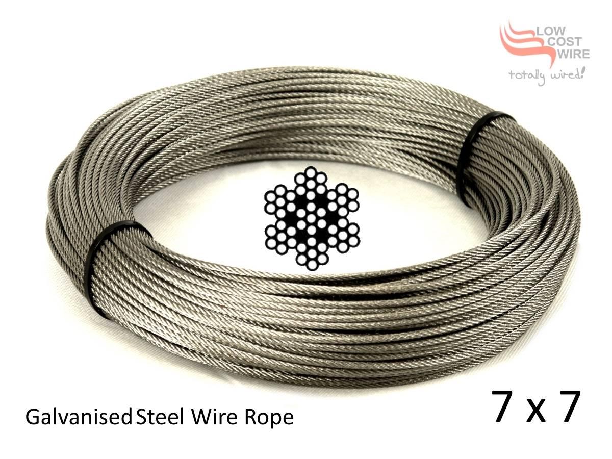 2 0mm Galvanised Steel Wire Rope