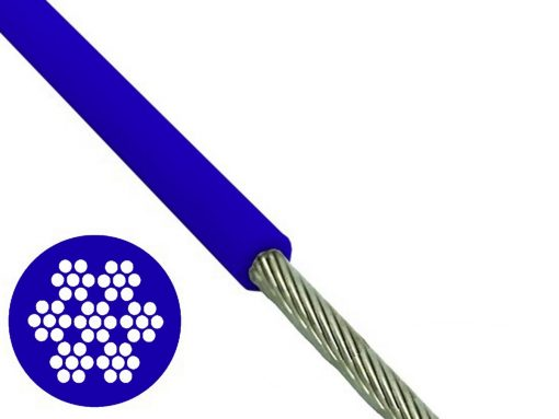 Blue PVC Coated 7x7 Wire Rope