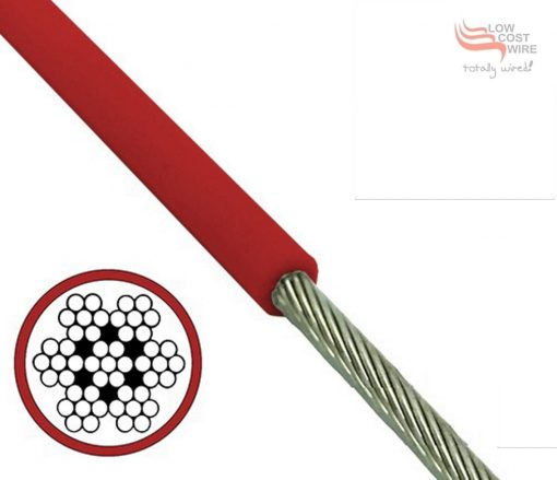Red PVC Coated 7x7 Wire Rope