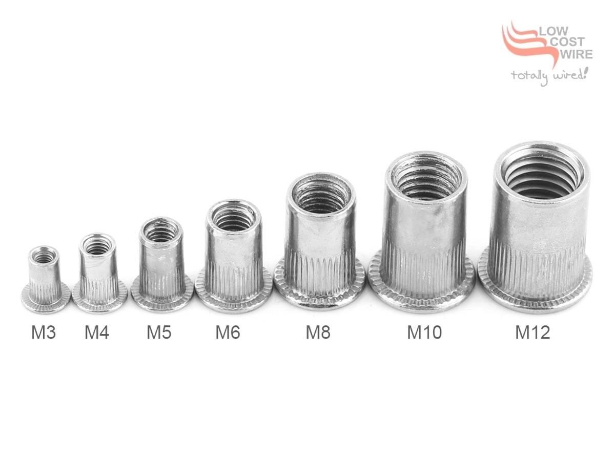 Zinc Plated Steel Nutserts Rivnuts Rivet Nuts