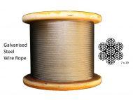 7x19 G2070 Galvanized Steel Rope