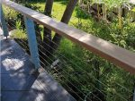 Custom Spaces Stainless Steel Wire Balustrade Built with Lag Screw RHT & LHT SRTT Kit for Timber Posts