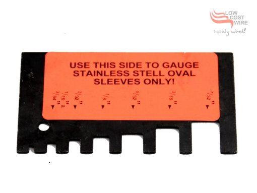 Hand Swage Measuring Gauge Close Up