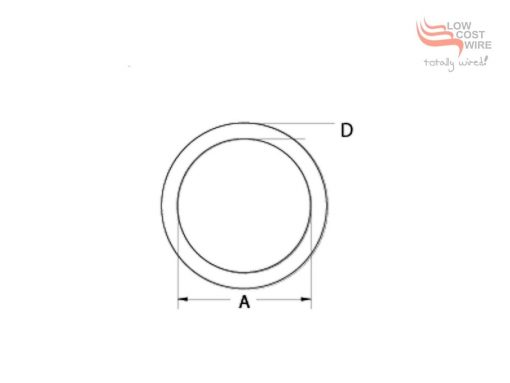 Stainless Steel Welded Ring Dimension Diagram