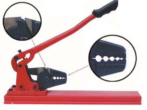 Professional Bench Swaging Tool Close up