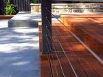 LANDeSCAPE Outdoor Creations Deck with Wire Balustrade Built with Swage Bolt RHT & LHT Basic SRMM Kit for Metal Posts