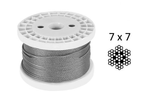 7X7 G316 Stainless Steel Wire Reel 100M LCW