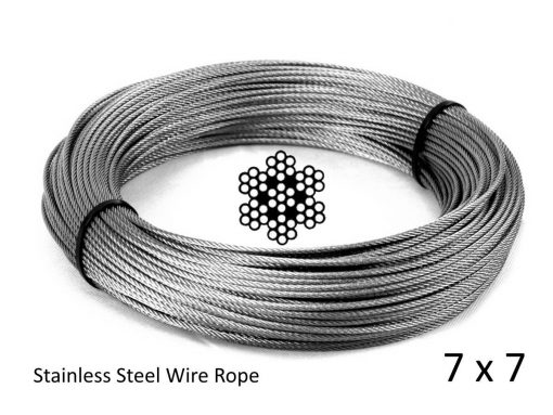 7x7 G316 Stainless Steel Wire Rope Coil with Structure