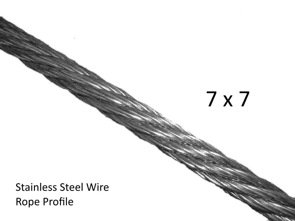 2.4mm Stainless Steel Wire Rope for Wire Balustrade Construction