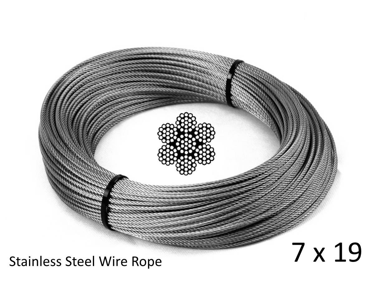 4.0mm 7x19 G316 Stainless Steel Wire Rope