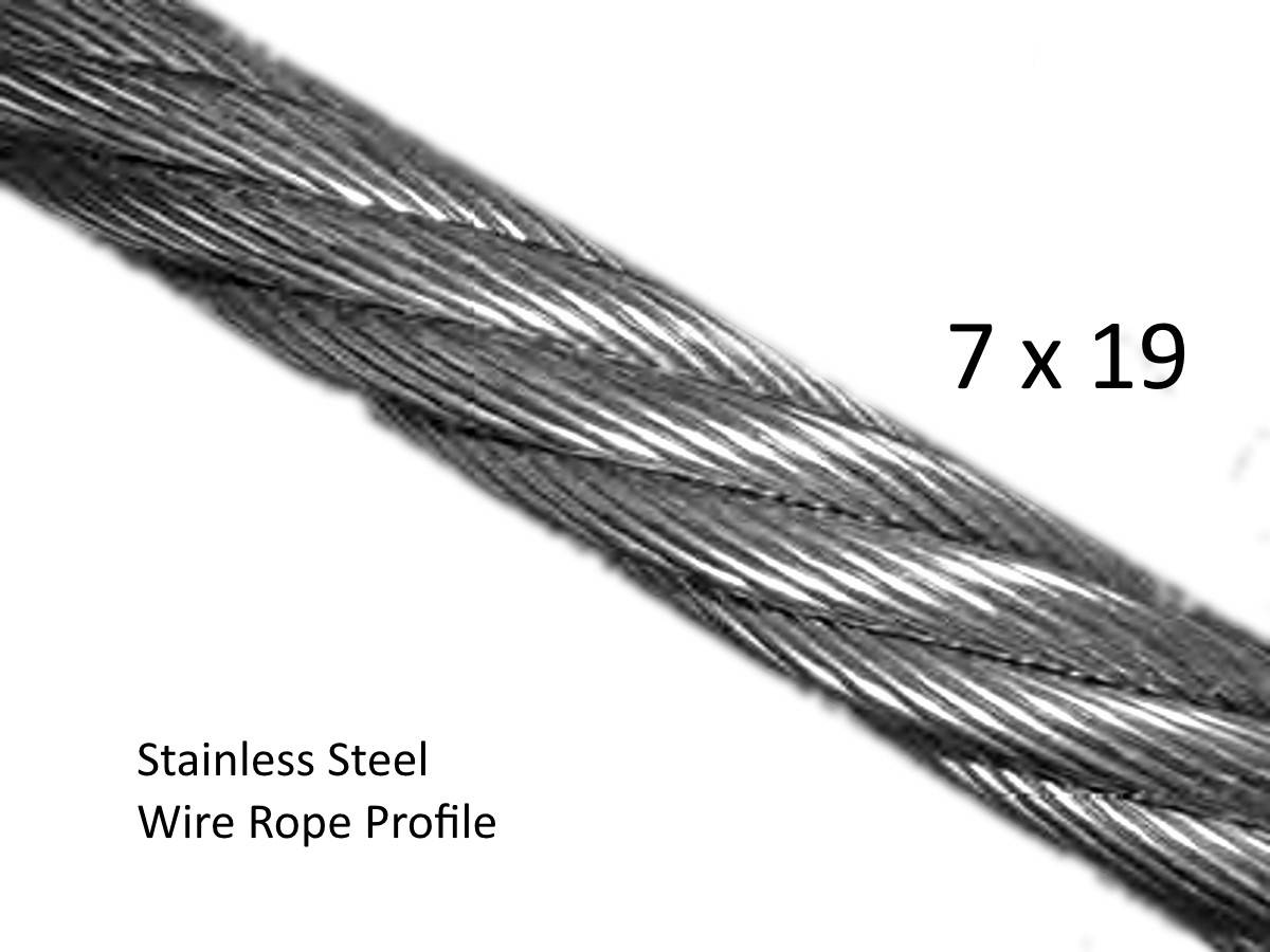 3 2mm Stainless Steel Wire Rope For Wire Balustrade
