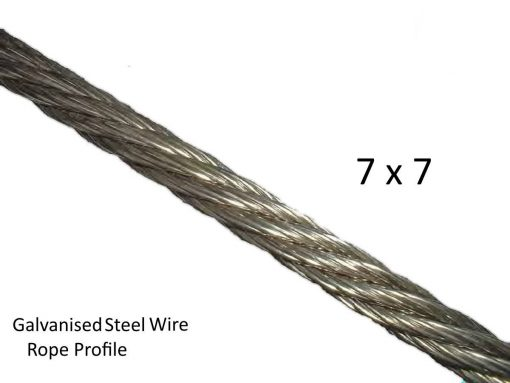 7X7 Galvanised Steel Wire Profile