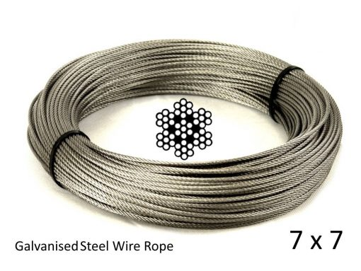 7x7 Galvanised Wire Rope Coil with Structure