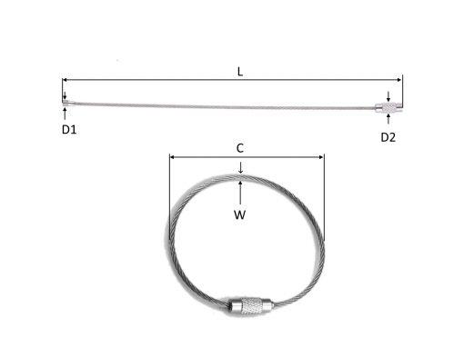 Tag Wire Dimensions