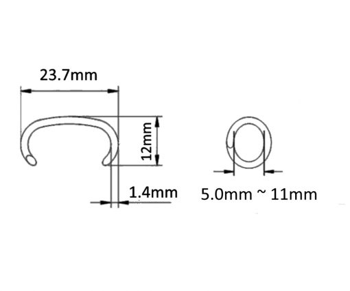 24mm Hog C Ring Dimension Picture