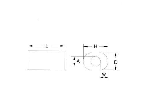 Copper Cable End Stop Stopper Dimension Diagram
