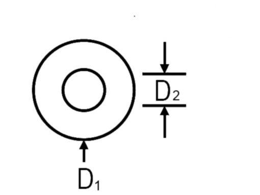 Flat Washer Dimension Diagram