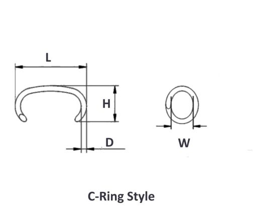 Hog C Ring Dimension Picture