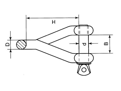 Twisted Shackle Dimension Diagram