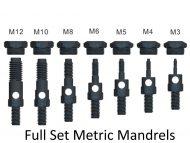 Professional Set of Metric Mandrels