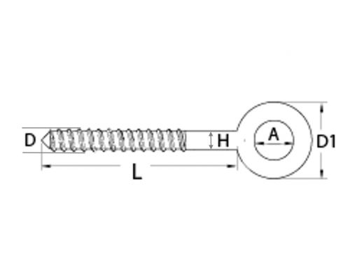 Lag Eye Screw Welded Diagram