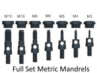 Professional Set of Metric Mandrels