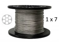 1x7 Nylon Coated Stainless Steel Wire