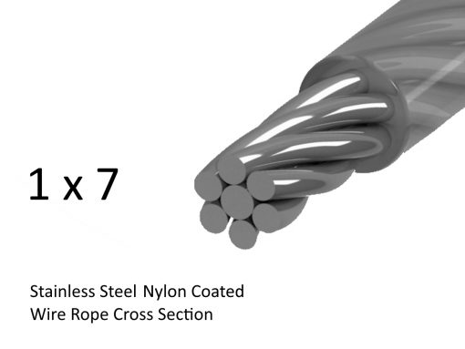 1x7 Stainless Steel Nylon Coated