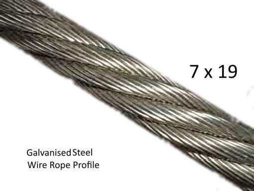 7x19 Galvanized Steel Wire Rope Profile