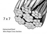 7X7 Galvanised Steel Wire Detail