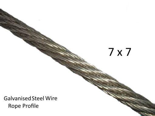 7X7 Galvanised Steel Wire Profile
