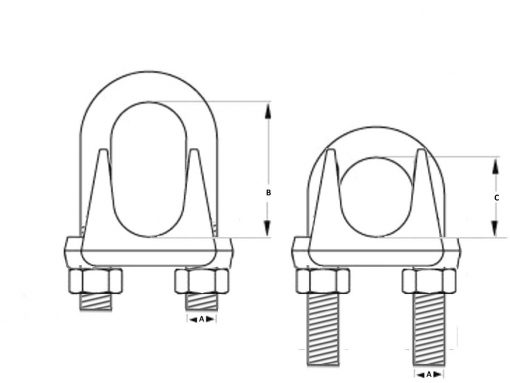 Wire Rope Grip Dim Diagram